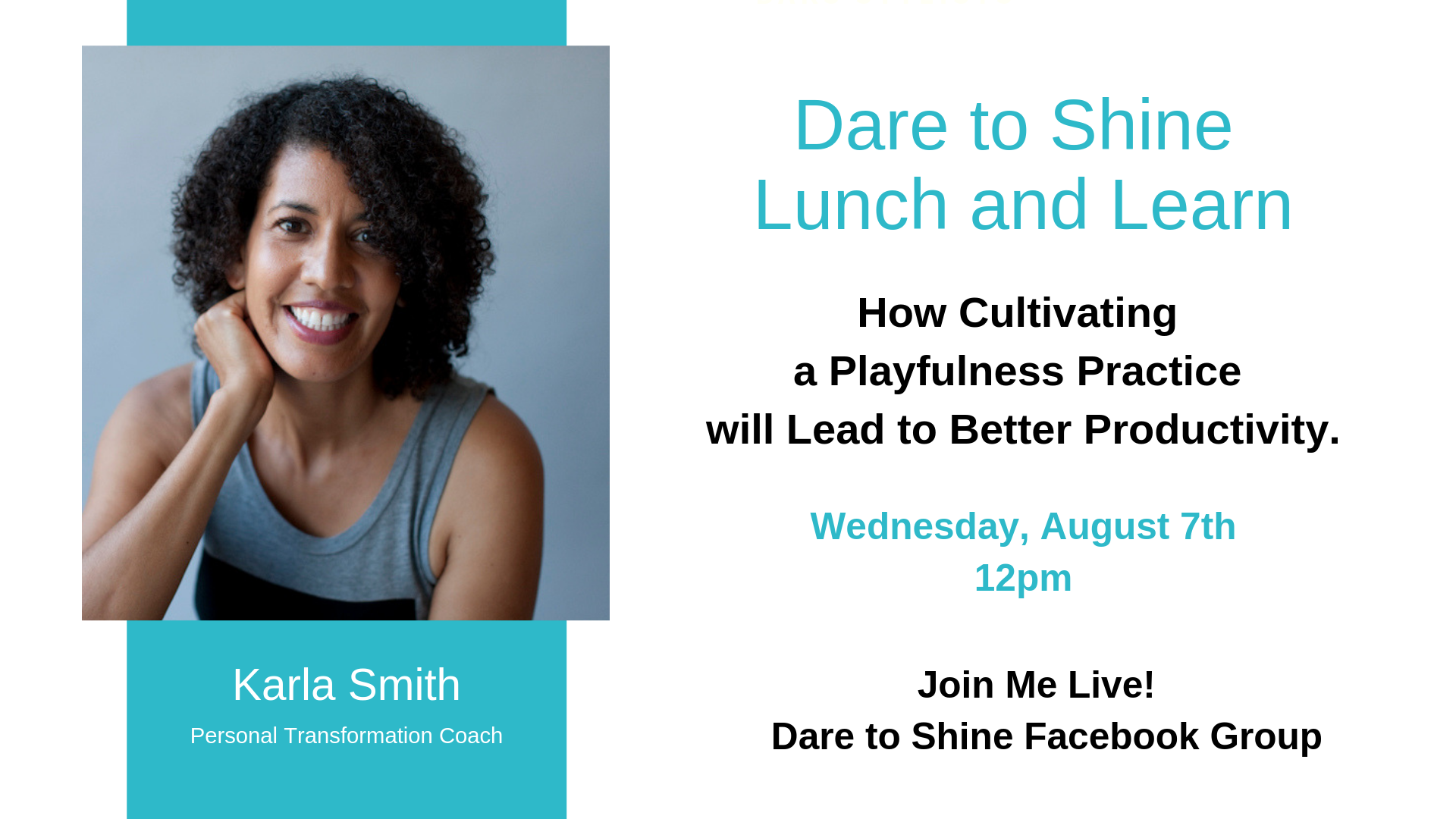Dare to Shine Lunch and Learn